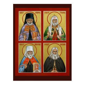 American Saints Prayer Card Postcard