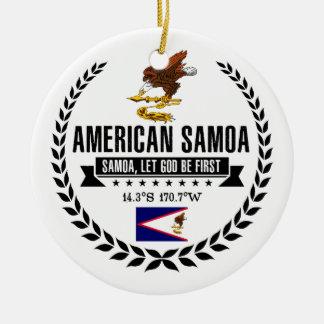 American Samoa Ceramic Ornament