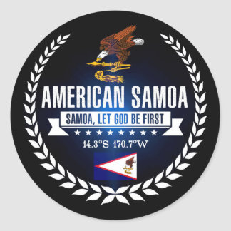 American Samoa Classic Round Sticker