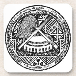 American Samoa Coat Of Arms Coaster