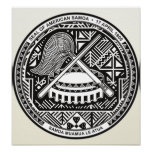 American Samoa Coat of Arms detail Posters