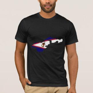 American Samoa Flag Map full size T-Shirt