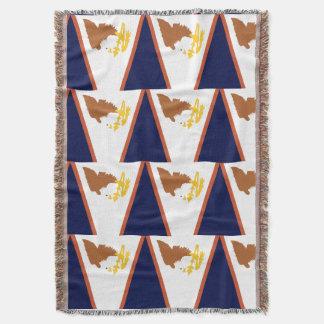 AMERICAN SAMOA FLAG THROW BLANKET