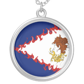 American Samoa Gnarly Flag Necklace