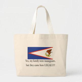 American Samoa Jumbo Tote Bag
