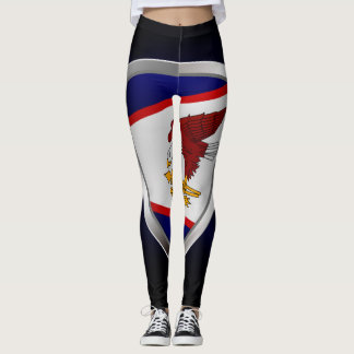 American Samoa Metallic Emblem Leggings