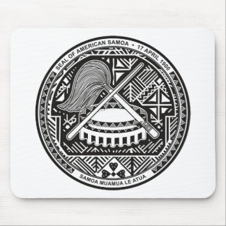 American Samoa Official Coat Of Arms Heraldry Symb Mouse Pad