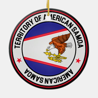 American Samoa Round Emblem Ceramic Ornament