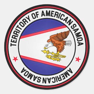 American Samoa Round Emblem Classic Round Sticker