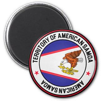 American Samoa Round Emblem Magnet