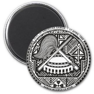 american samoa seal 2 inch round magnet