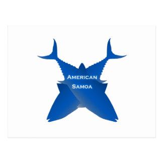 American Samoa Tuna (blue) Postcard