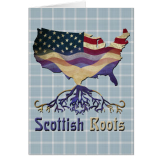 American Scottish Roots Greeting Card