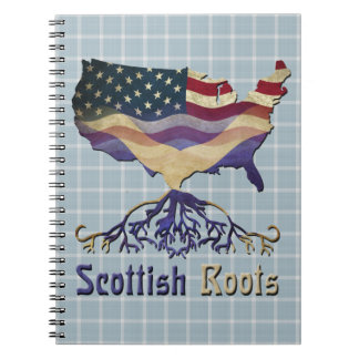 American Scottish Roots Notepad Notebook
