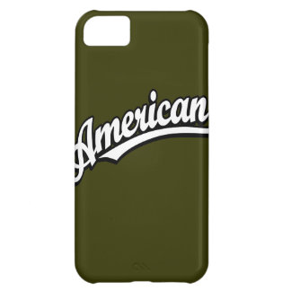 American script logo White and Black Cover For iPhone 5C