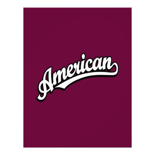 American script logo White and Black Custom Letterhead
