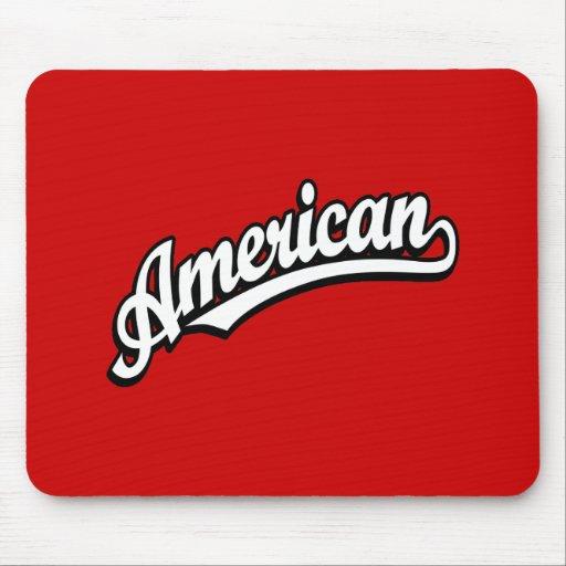 American script logo White and Black Mousepad