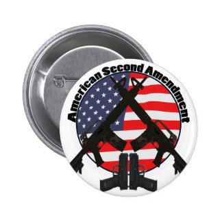 American Second Amendment 2 Inch Round Button