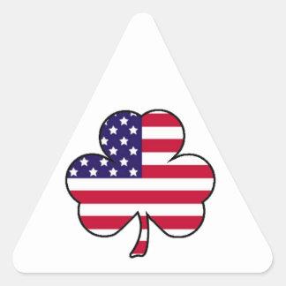 American Shamrock Triangle Sticker