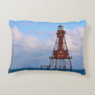 American Shoal Lighthouse, Florida Accent Pillow