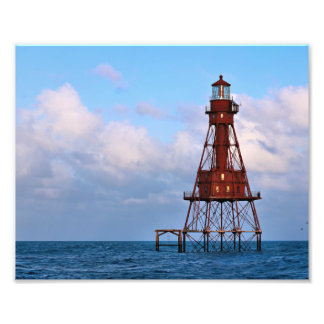 American Shoal Lighthouse, Florida Satin Photo