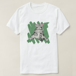 American Shorthair Cat scratch T-Shirt