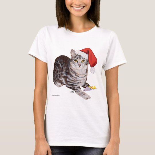 American Shorthair Tabby Cat - Christmas T-Shirt