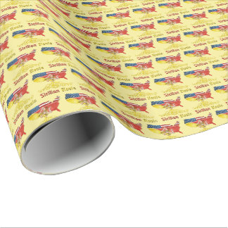 American Sicilian Roots Gift Wrap