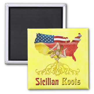 American Sicilian Roots Magnet