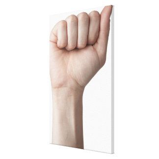 American Sign Language 26 Stretched Canvas Print