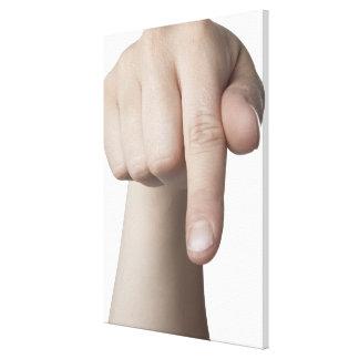 American Sign Language 27 Canvas Print