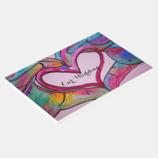 American Sign Language Heart Hands Wedding Guest Book