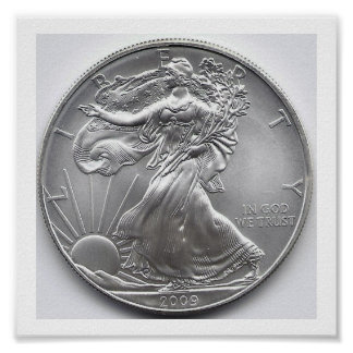 American Silver Eagle Wall Art
