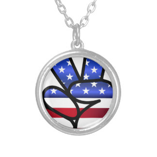 american silver plated necklace