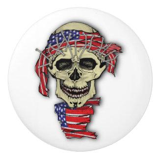 American Skull Ceramic Knob