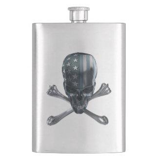 American Skull Classic Flask