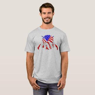 American Skull Cross Rifles T-Shirt