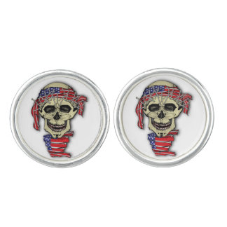 American Skull Cuff Links
