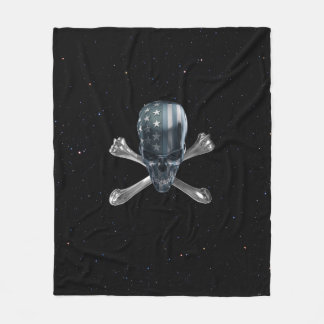 American Skull Fleece Blanket