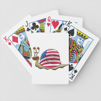 American snail bicycle playing cards