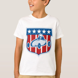 American  Soap box derby car with stars and stripe T-Shirt
