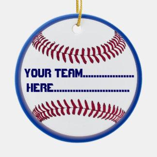 American Softball charm and Souvenir Round Ceramic Ornament