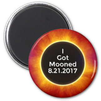 American Solar Eclipse Got Mooned August 21 2017.j 2 Inch Round Magnet