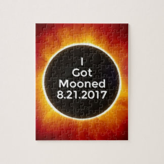 American Solar Eclipse Got Mooned August 21 2017.j Jigsaw Puzzle