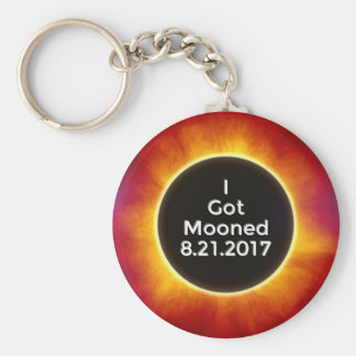 American Solar Eclipse Got Mooned August 21 2017.j Keychain