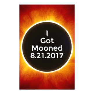 American Solar Eclipse Got Mooned August 21 2017.j Stationery
