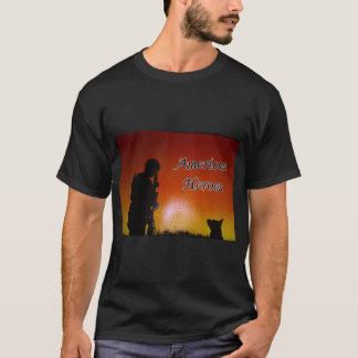 American Soldier and his dog T-Shirt