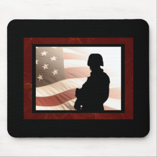 American Soldier Military Patriotism Mouse Pad