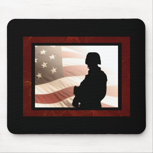 """""""American Soldier"""" Mouse Mat"""
