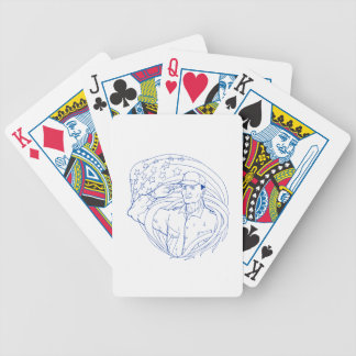 American Soldier Salute Flag Ukiyo-e Bicycle Playing Cards